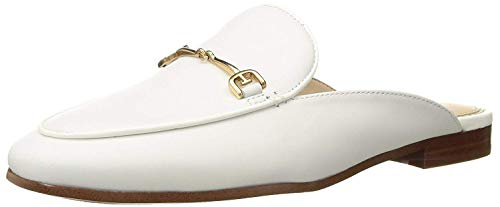 Sam Edelman Women's Linnie Mule, Bright White Leather, 6.5 M - Lightweight Leather Mules