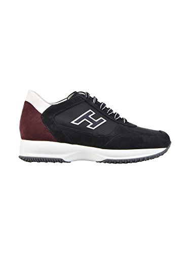 fake for sale Hogan Men's HXM00N0Q102I9L413J Blue/Burgundy Leather Sneakers outlet with mastercard KNBWatElDe