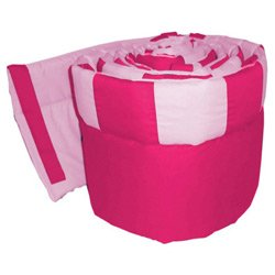Patchwork Perfection Cradle Bumper, color: Fuji/Pink, size: 18x36