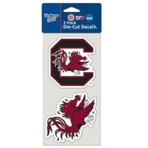 NCAA University of South Carolina Perfect Cut Decal (Set of 2), 4