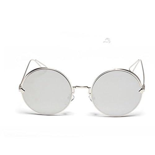 Sucastle Métal lunettes de soleil flèches rondes hommes et femmes soleil lunettes petite boîte ronde Métal TAC QWERT