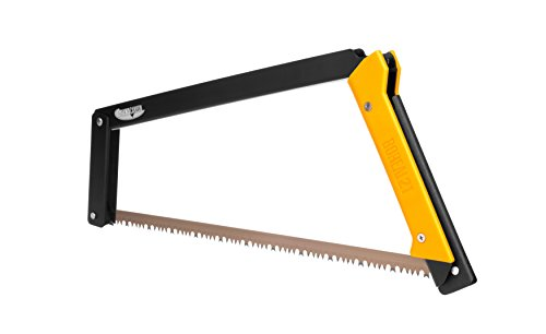 Agawa Canyon - BOREAL21 Folding Bow Saw - Black Frame, Yellow Handle, All-Purpose Blade