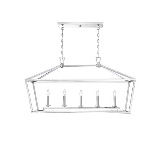 Savoy House Townsend 5-Light Trestle in Polished Nickel