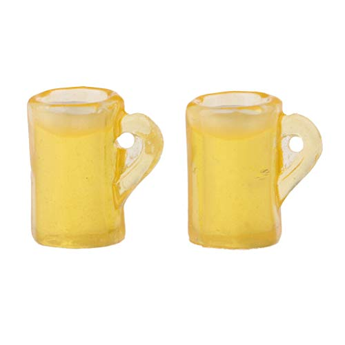 NATFUR 1/12 Miniature Beer Cup Model Dollhouse Rooms Foods Decoration - Model Camping Accessories