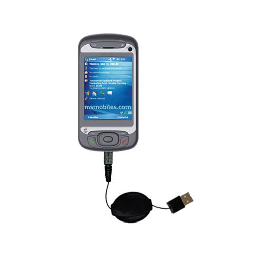 USB Power Port Ready retractable USB charge USB cable wired specifically for the i-Mate JasJam and uses TipExchange