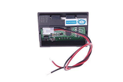 SMAKN/® 2 Wire Green Dc 4.0-30v LED Panel Digital Display Voltage Meter Voltmeter