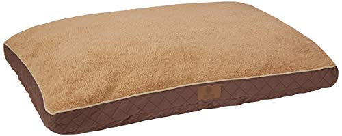 American Kennel Club Extra Large Reversible Diamond Stitched Pet Bed, 30-in by 40-in, Brown