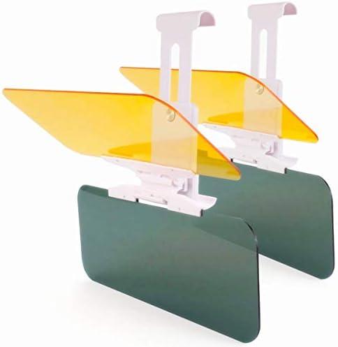 Sunniy Car Sun Visor,11.85.9 Inchs Car Windshield Sun Shade Car Sun Visor Anti-Glare Extender Anti Dazzle Shading Mirror Auto Anti-Glare Clip-on Shield Sunshades