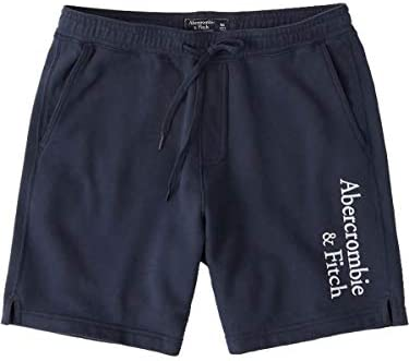 [Abercrombie & Fitch(アバクロンビーアンドフィッチ)] アバクロ メンズ アスレチック ショーツ ショートパンツ ロゴ 刺繍 ネイビー [並行輸入品]