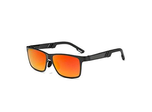 Mens+Polarized+Wayfarer+Retro+Sunglasses+w%2F+Alloy+Frame+%26+Red+REVO+Coated+Lens