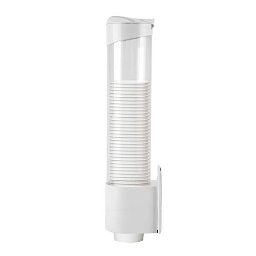 FTVOGUE Paper Cups Dispenser 7.5cm Long Anti Dust Plastic Holder 50 Cups Convenient Container