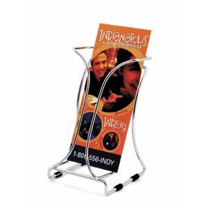 Chrome Wire Brochure Holder Single Pocket (Single Pocket Holder Brochure)