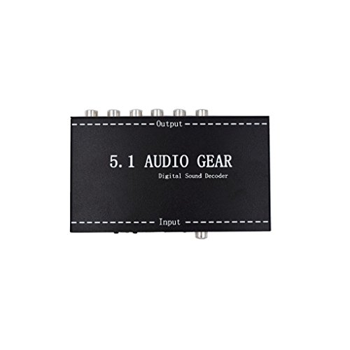 Luzan 5.1 Audio Gear Digital Sound Decoder Support Dolby Digital AC-3 Dolby Pro Logic DTS PCM Into 5.1 Analog Audio Output by Luzan
