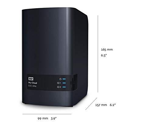 WD WDBVBZ0040JCH-NESN My Cloud EX2 Ultra 4TB 2-Bay External Network Storage (NAS) Charcoal