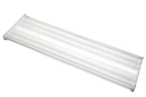 New!! 4 LED Tubes 6500K Orilis 8/' 96W Commercial Hardwired Ceiling Fixture
