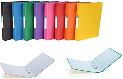 Carpeta archivadora de 2 anillas A4 de colores brillantes con capacidad para 190 hojas de lomo de 25 mm – Paquete surtido de 5: Amazon.es: Oficina y papelería