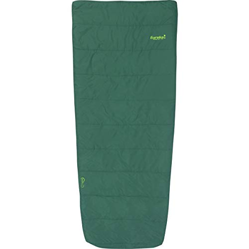 Eureka! Kiewa 40-Degree Regular Length Semi-Rectangular Mummy Sleeping Bag, Summer Season, Dark Aqua Green
