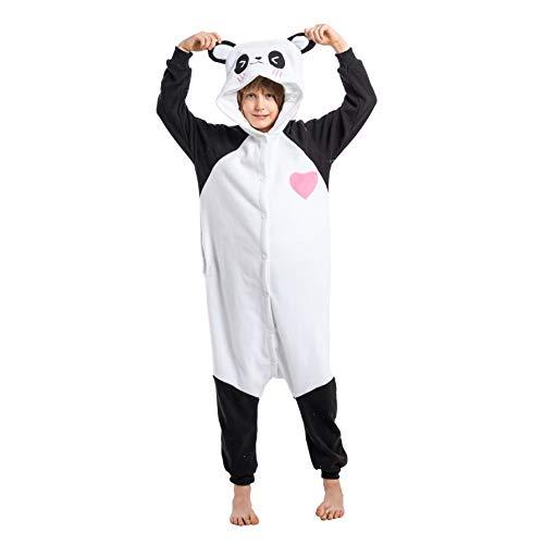 Spooktacular Creations Unisex Child Pajama Plush Onesie One Piece Panda Animal Costume White