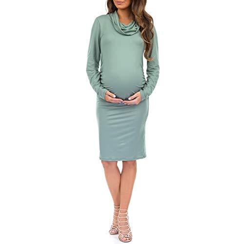 c125e3cf1d6 Women s Long Sleeve Cowl Neck Maternity Dress