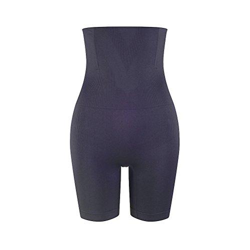 Amazingjoys Women s Hi-waist Body Shaper Tummy Control Panty Seamless Thigh Slimmer