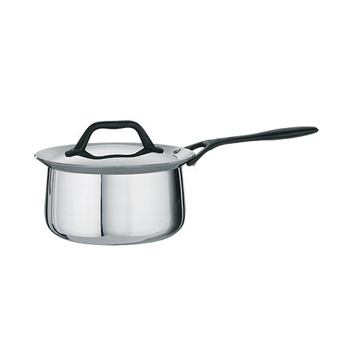 Tramontina Limited Editions Barazzoni 2 Quart Stainless Steel Covered Tri-Ply Clad Sauce Pan