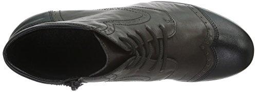 Remonte R9170, Botas Militar para Mujer Gris (schwarz/graphit / 45)
