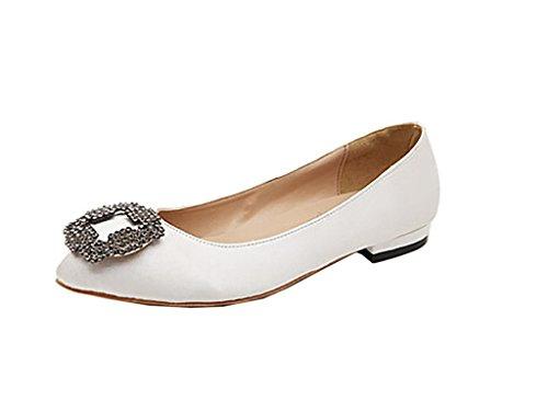 Arc-en-Ciel zapatos de mujer pisos de punta redonda Blanco