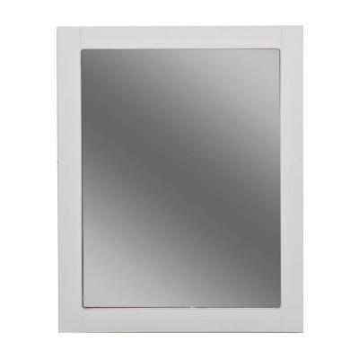 Del Mar 24 en. W enmarcado espejo de pared en color blanco: Amazon ...
