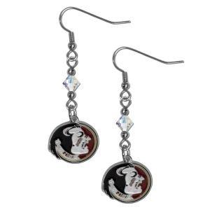 NCAA Florida State Seminoles Crystal Dangle Earrings (Charm State Logo Seminoles Florida)