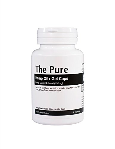The-Pure-HO-Gel-Caps-150mg-Hemp-Oil-Extract-Supplement-Softgels-30-Capsules