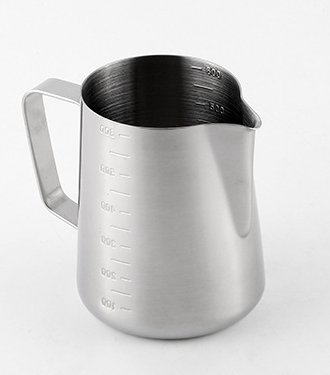 iCoffee Milk Frothing Pitcher 20 oz (600 ml) HEAVY 1.2MM Thickness FOODGRADE 18/10 Stainless Steel with INDELIBLE Measurements on BOTHSIDES for Coffee Espresso Maker Milk Frothing Steaming Pitcher by iCoffee Brand (Image #6)