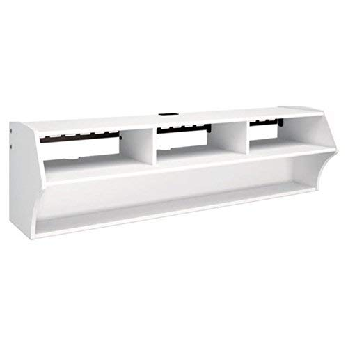 Prepac Altus Plus 58' Floating TV Stand, White