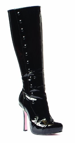 lacado Botas Negro Para Mujer Leg Negro Avenue ZwYxPSa