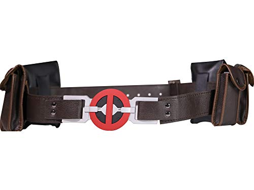 X Cosplay Men DP New Version Leather Belt with 6 pockets Costume Accessories