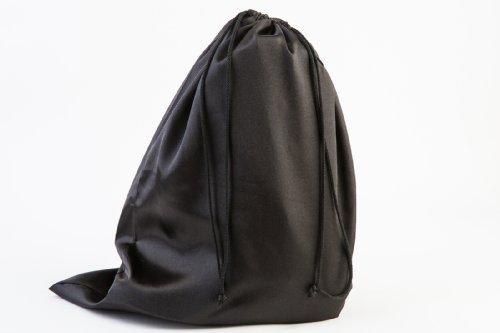 "Large Boot Bag, Cowboy Boot Bag w/ Drawstring (Black) -Set of 2 Travel Boot Bags,18"" x 24"""