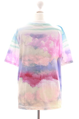 T-35 Rosa Lila Wolken Sky Pastel Sommer Cartoon Patches Japan T-Shirt Harajuku Kawaii-Story