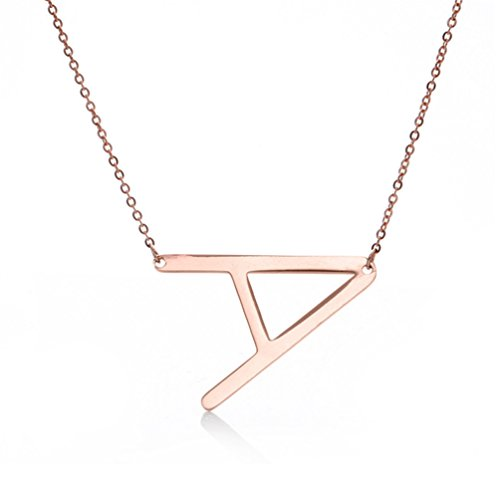 Alphabet Letter Jewelry Stainless Necklaces