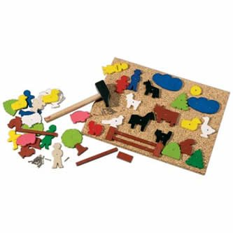 HABA Figure Geo Shape Tack Zap Set by HABA