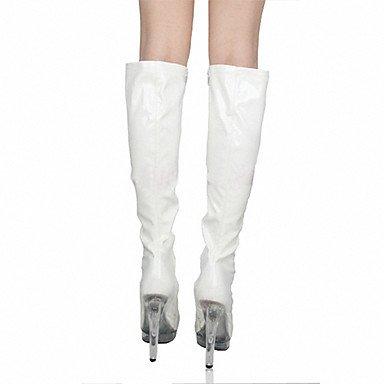 Evening Dress amp; Boots Fashion Gll Heel Wedding Boots Leather Patent High White Heels Party amp;xuezi Boots Platform Women's Stiletto 77qBXO