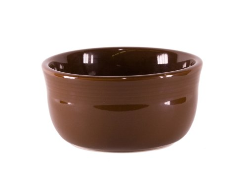 Fiesta 24-Ounce Gusto Bowl, Chocolate - Homer Laughlin Fiesta Chocolate