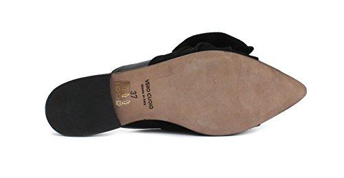 MICHEL BATIC Slipper 6169 Borgo Incrociato Nero Camoscio Nero 5wnxt6