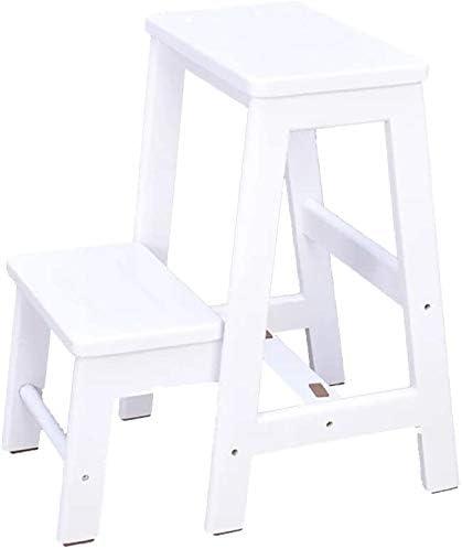 Taburete con escalera Taburetes de madera con escalones de 2 niveles Taburetes para adultos Taburetes con escalera Taburetes con escalera multifunción Taburete con escalones portátil (Color: Wh: Amazon.es: Hogar