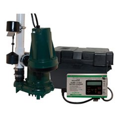 Zoeller Aquanot 508-0007 12 Volt backup sump pump WITH M98 pump