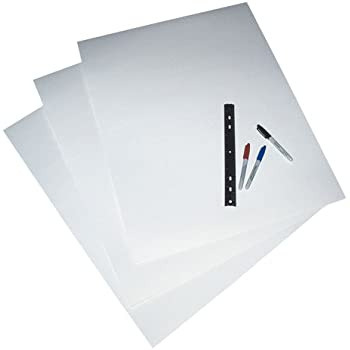 Amazon.com : Pacon 4 Ply White RRBD, 25 Sheets per Carton ...