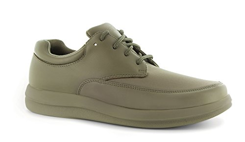P W Minor Pleasure Womens Therapeutic Extra Depth Shoe: Taupe 8 Medium (D) Velcro C6IXG9h