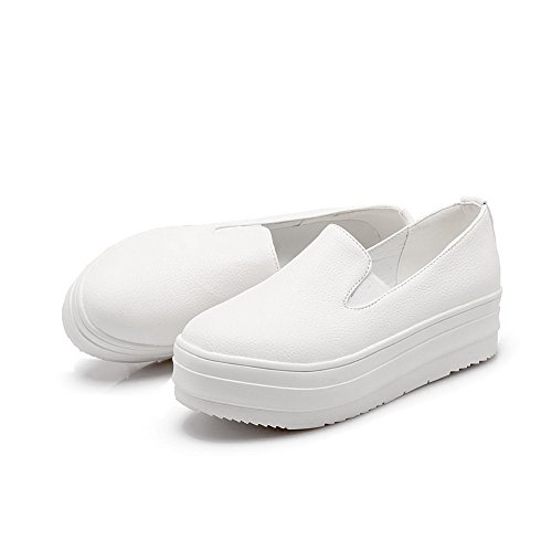 Balamasa Piattaforma Da Donna Scarpe Con Tacco In Pelle Imitato Bianco