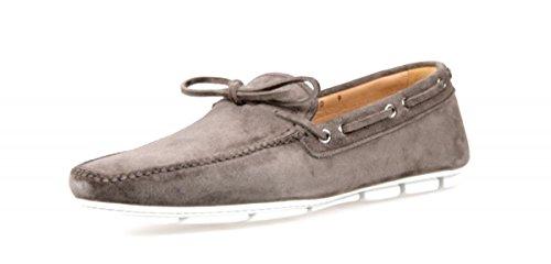 Prada Men's 2DD100 103 F0170 Brown Leather Loafers EU 9 (43) / US 10
