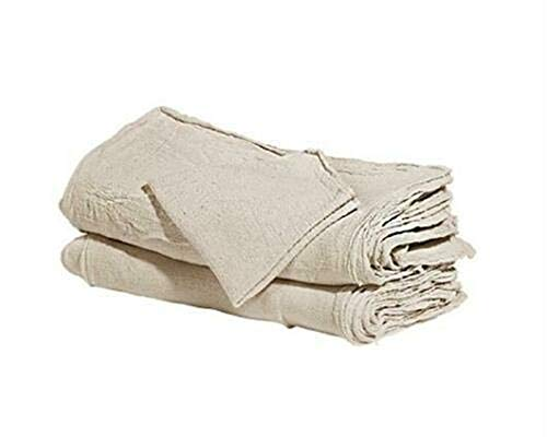 Soft Natural Shop Towels Heavy Rags 18X8'' Commercial Cleaning A Grade Rags 100 PCS by E_GGW (Image #1)