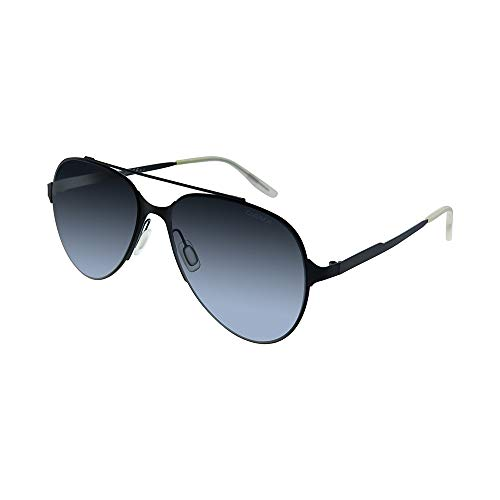 Carrera Men's Ca113s 0003 Aviator Sunglasses, MATTE BLACK/GRAY GRADIENT, 57 mm