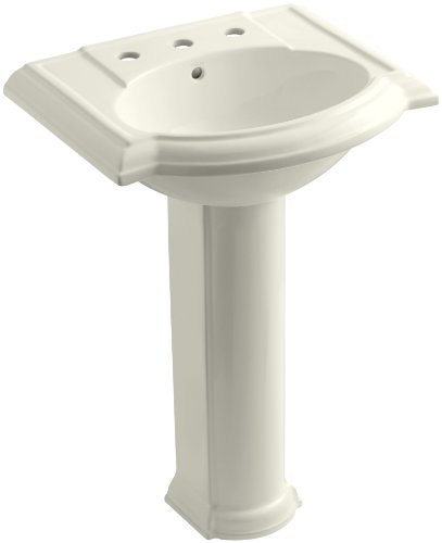 KOHLER K-2286-8-96 Devonshire Pedestal Bathroom Sink with 8